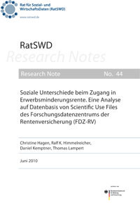 RatSWD Research Note